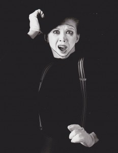 Chick as mime